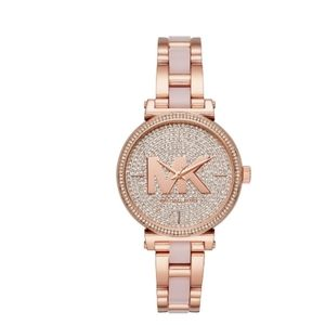 NEW Michael Kors Crystal Rose Gold 36mm Watch